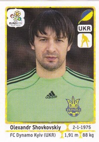 2012 Panini Euro Soccer Stickers Shovovskiy