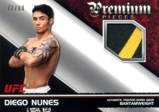 2012 Topps UFC Knockout Premium Pieces Diego Nunes Relic Card #/88