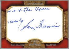 2011 Topps 5 Five Star Sam Francis Cut Signature