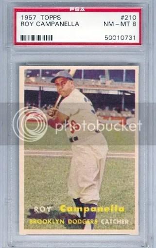 1957 Topps Roy Campanella #210 Graded PSA 8