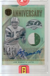 2012 Panini Black Box Joe Namath Gold Standard 1/1