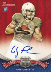 2012 Bowman Football Coby Fleener All American Autograph
