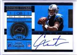 2011 Panini Contenders Cam Newton Autograph Rookie RC