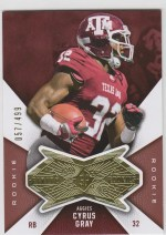 2012 Upper Deck SPx Cyrus Gray Finite RC /499