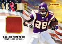 2012 Panini Father's Day Adrian Peterson 9-11 Tribute