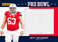 2012 Panini Fathers Day Jeff Saturday Pro Bowl