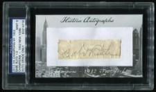 2012 Historic Autographs Babe Ruth Cut Signature