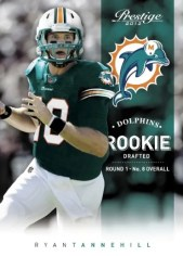 2012 Panini Prestige Ryan Tannehill Dolphins Rookie Card