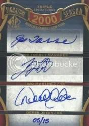 2012 UD Sp Signature Triple Auto Jeter/Torre/Martinez