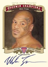 2012 UD Goodwin Champions Mike Tyson Autograph