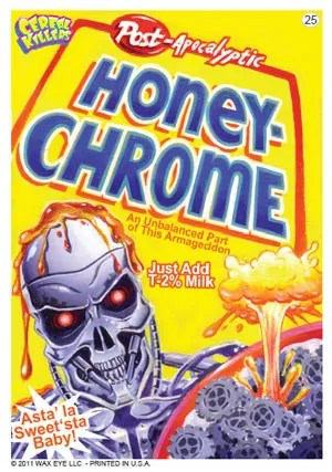 Cereal Killers Series 1 Honey-Chrome Sticker Card