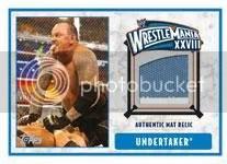 2012 Topps WWE Undertaker Mat Relic