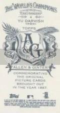 2012 Topps Allen & Ginter Yu Darvish Mini Back