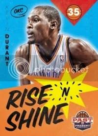 12/13 Panini Past & Present Rise 'N Shine Kevin Durant