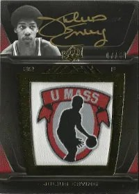 2011-12 Upper Deck Exquisite UD Black College Vault Autograph #B-JE Julius Erving #/10