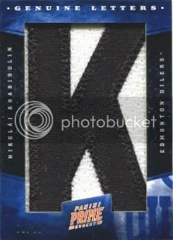 2011-12 Panini Prime Genuine Letters #77 Nikolai Khabibulin #/10
