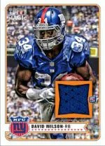 2012 Topps Magic David Wilson Mini Jersey