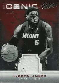 12/13 Panini Absolute Memorabilia Iconic LeBron James Jersey Card