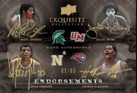 2011-12 Upper Deck Exquisite Quad Autograph Card