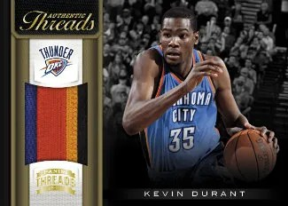 2012-13 Panini Threads Authentic Threads Kevin Durant Prime Jersey Card