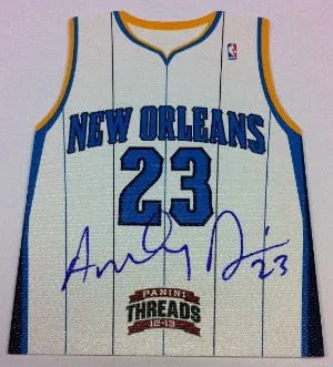 2012-13 Panini Threads Basketball Anthony Davis Die-Cut Autograph