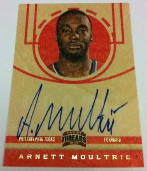 2012-13 Panini Threads Basketball Arnett Moultrie Autograph RC