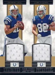 2012 Panini Prominence Unlimted Potential Dual Material #1 Andrew Luck - Coby Fleener