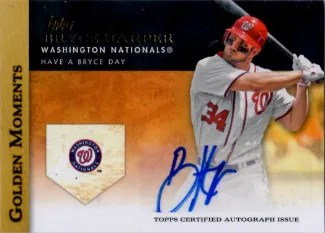 2012 Topps Golden Moments Bryce Harper Autograph Card