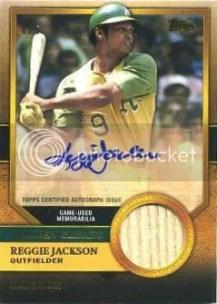 2012 Topps Update Golden Greats Auto Relic #GGAR-RJ Reggie Jackson - A's