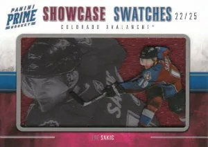2011-12 Panini Prime Hockey Showcase Swatches #32 Joe Sakic #/25