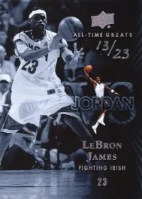 2013 Upper Deck All-Time Greats LeBron James VS