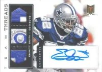 2012 Panini Momentum Emmitt Smith Team Threads Autograph Prime #11 Emmitt Smith #/5