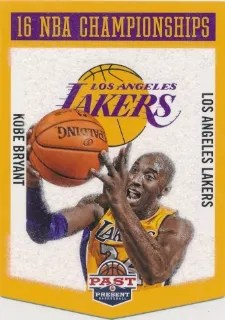 12-13 Panini Past & Present Championship Banners Kobe Bryant