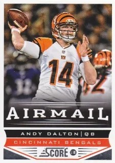 2013 Score Air Mail Andy Dalton