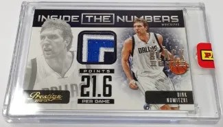 2013 Panini Black Box Inside the Numbers Jersey Dirk Nowitzki