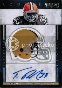 2012 Panini Prominence Trent Richardson Helmet Autograph RC #236 Trent Richardson #/80