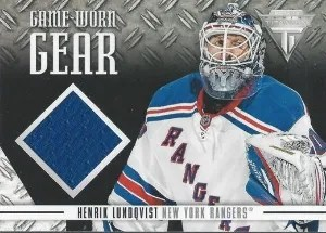 12/13 Anthology Titanium Game Worn Gear #Henrik Lundqvist