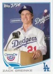 2013 Topps Opening Day Photo SP #46 Zack Greinke SP