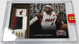 2013 Panini Black Box LeBron James Threads Jersey