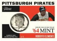 2013 Topps Heritage Roberto Clemente 64 Mint