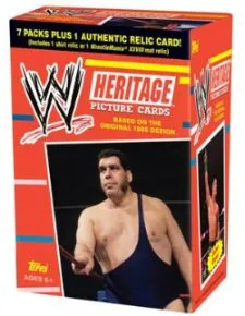 2012 Topps Heritage WWE Box
