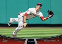 2013 Topps Series 2 Mike Trout Chasing it Down