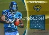 2012 Topps Platinum Justin Blackmon Jersey