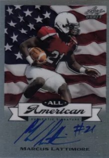 2013 Leaf Metal Draft All American Marcus Lattimore Auto