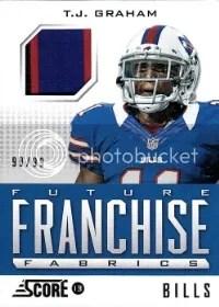 2013 Score Future Franchise Fabric Prime #3 T.J. Graham WR - Buffalo Bills #/99