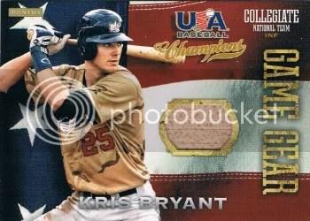 2013 Panini USA Champions Kris Bryant Bat Card