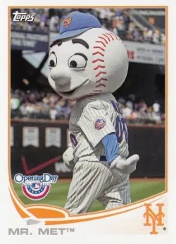 2013 Topps Opening Day Mascot Cards