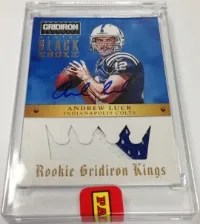 2013 Panini Black Box Gridiron Kings Andrew Luck Auto