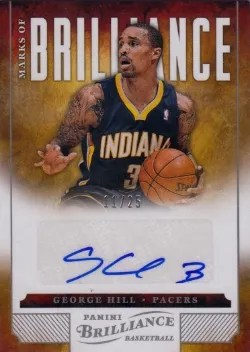 12/13 Panini Brilliance George Hill Marks of Brilliance Auto
