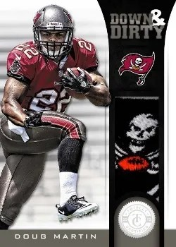 2012 Panini Totally Certified Down & Dirty Doug Martin Prime Jersey Card